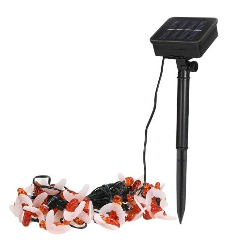 Solar 30 LED Bee String Lights Luci esterne impermeabili