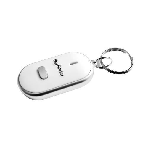 Mini LED luz anti-perdida silbato clave buscador