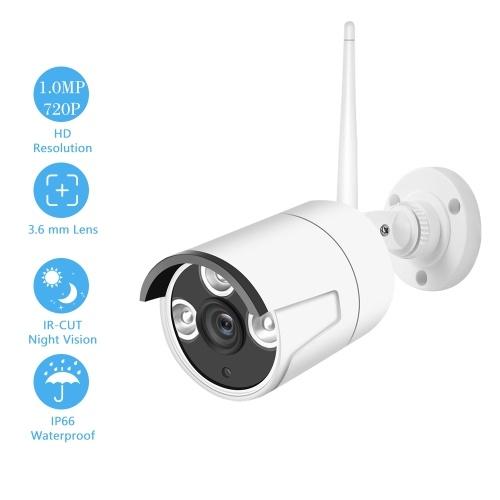 1.0MP 720P Câmera de Segurança IP Sistema de Vigilância de Câmera Sistema de Detecção de Movimento e Alertas Inteligentes Suporte P2P LEDs IR Embutidos