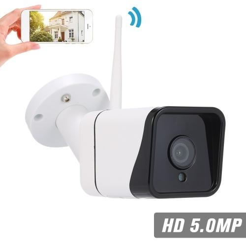 """Cámara IP inalámbrica WIFI HD de 5.0MP 3.6mm 1 / 2.8 """"CMOS H.265 P2P Onvif 36pcs Lámparas IR Vista nocturna IR-CUT Detección de movimiento Teléfono Aplicación Control Control Interior / Exterior Impermeable Seguridad para el hogar"""