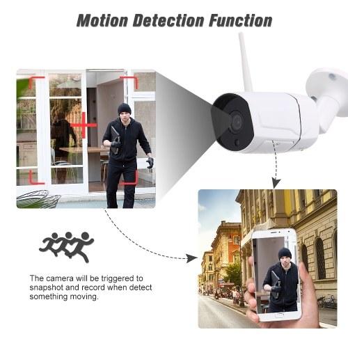 """1080P Беспроводная WIFI HD IP-камера 2.0MP 3.6 мм 1/3 """"CMOS H.265 P2P Onvif 36шт. ИК-лампы ночного видения IR-CUT Обнаружение движения Телефон APP Управление Крытый / Открытый Водонепроницаемый Безопасность дома фото"""