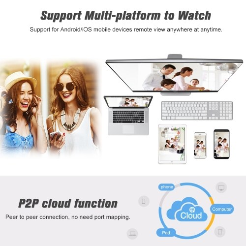 """3.0MP Wireless WIFI HD IP Camera 3.6mm 1/2.7"""" CMOS H.265 P2P Onvif 36pcs IR Lamps Night View IR-CUT Motion Detection Phone APP Control Indoor/Outdoor Waterproof Home Security"""