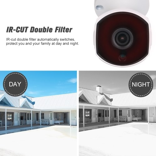 """5.0MP Wireless WIFI HD IP Camera 3.6mm 1/2.8"""" CMOS H.265 P2P Onvif 36pcs IR Lamps Night View IR-CUT Motion Detection Phone APP Control Indoor/Outdoor Waterproof Home Security"""