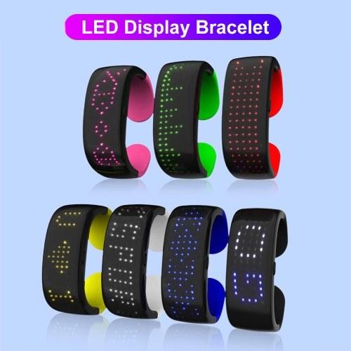 Glowing Wrist Band LED Sports Slap Flash Bracelet