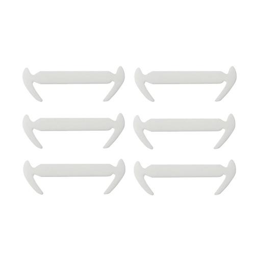 12pcs moda cordón elástico de silicona elástica no hay tendencia de lazo se divierte los cordones de zapatos de forma de hoz