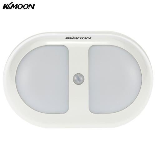 KKmoon  Portable 10 LED PIR Human Motion Induction Detector Light  Wireless Bedroom Passage Wall Night Lamp Yellow Light