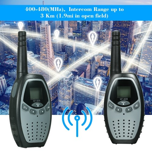 2PCS Walkie Talkies with PTT-VOX XFC 8CH 2 Way Radios Communicator
