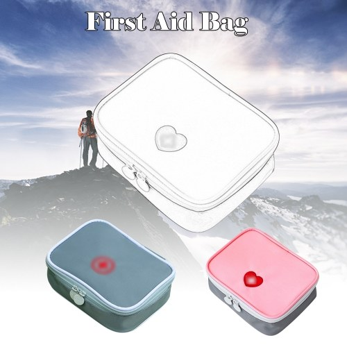 Portable Mini First Aid Kit Multifunctional Medicine Bag Storage Bag Empty Medicine Pouch for Outdoor Home Travel Camping Hiking Cycling,Grey