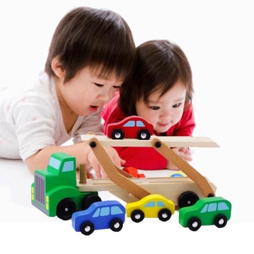 Carro portante dell'automobile del doppio legno e automobili di legno di legno