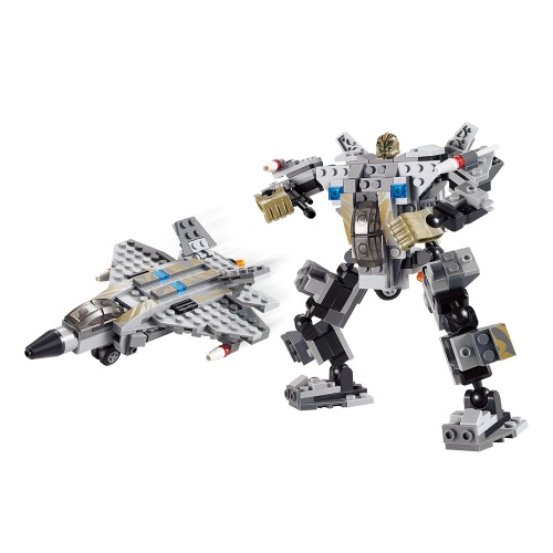 XIPOO 186pcs XP90007 Hunting Robot Aircraft Building Block Educational Toys