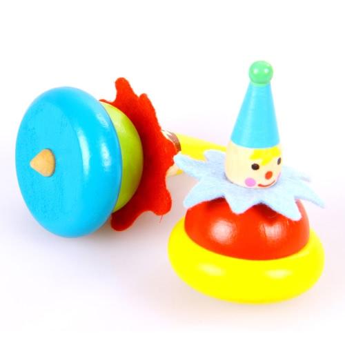 Купить 5 Paar Holz Clown Spinning Top Spielzeug Wooden Clown Spielzeug Baby Drehen Tumbler Pädagogische Spielzeug Für Kinder