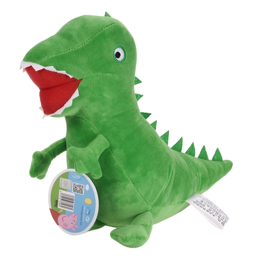 オリジナルブランドPeppa Pig 29cm George Dinosaurぬいぐるみぬいぐるみ家族パーティードレス子供のためのクリスマス新年の贈り物