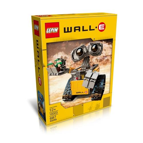オリジナルボックスLEPIN 16003 687pcsアイデアロボットWALL Eビルディングブロックキットセット