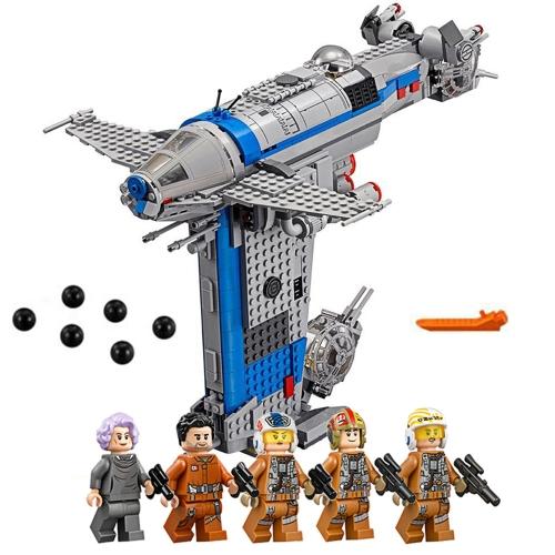 LEPIN 05129 873pcs Star Wars Episodio VIII Resistenza Bomber Star Wars Spaceship Building Block Kit Set - Sacchetto di plastica Pacchetto