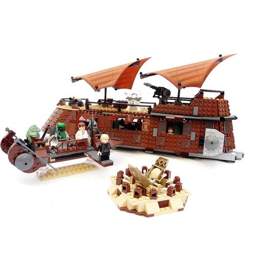 Original Box LEPIN 05090 821pcs Star Wars Jabba's Sail Barge Building blocks Kit Set