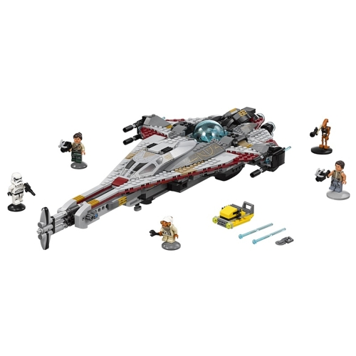 LEPIN 05113 800pcs Star Wars The Arrowhead Building Blocks Kit Set - Sacchetto di plastica confezionato