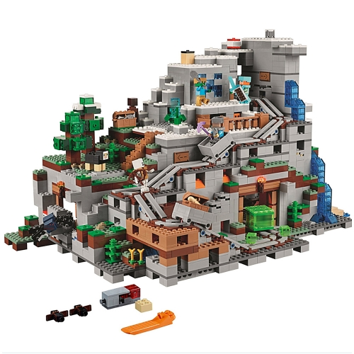 Original Box LEPIN 18032 2932pcs Minecraft Series the Mountain Cave Model Building Blocks Bricks Kit