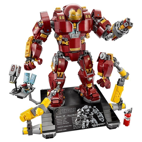 Scatola originale LEPIN 07101 1527pcs serie Super Heroes Hulk Buster: modello Lutron Edition Building Blocks Kit mattoni