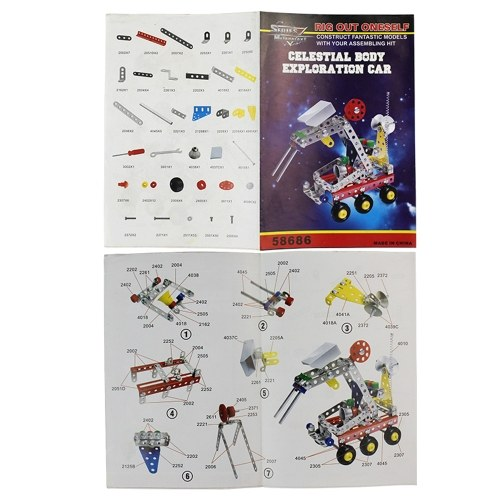 189Pcs Planet Rover Car Intelligent Construction Set 3D Metal Model Kit DIY Gift Model Building Educational Toys