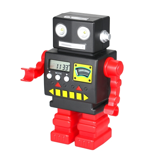 Robot Bank Counting Coins Electronic Saving Money Banks US Coin Can for Kids Children Showing Time