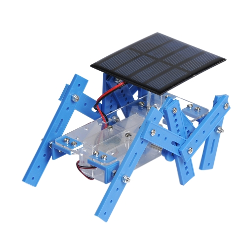 Mini DIY Solar Six-legged Robot Model Mechanical Energy Conversion Technology  Funny Puzzle Educational Scientific Robots Toy