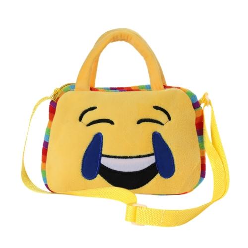 Śliczna Etui Emoji Etui na Ramię Pluszowy Plecak