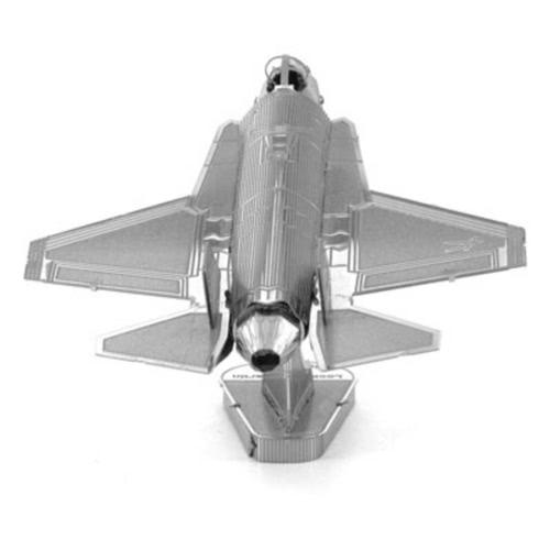 3DパズルF-15イーグルファイターシルバー3DメタルジグソーパズルモデルキットDIY飛行機ギフトモデル教育おもちゃ