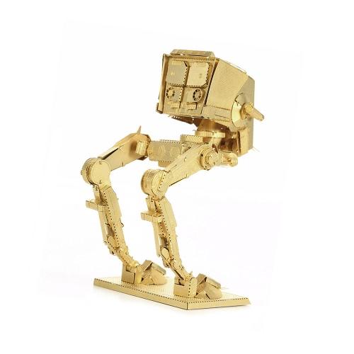 3D Puzzles AT-ST Golden 3D Metal Puzzle Modell Kit DIY Star War Geschenk Modell Pädagogische Spielzeug