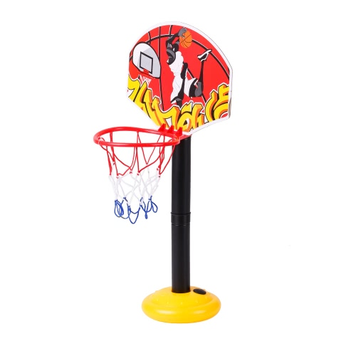 777-417 Il giocattolo del basamento del cerchio di pallacanestro è regolabile da 49.5 a 109cm nell'altezza dei bambini all'esterno dell'attrezzatura di treno dell'interno del treno
