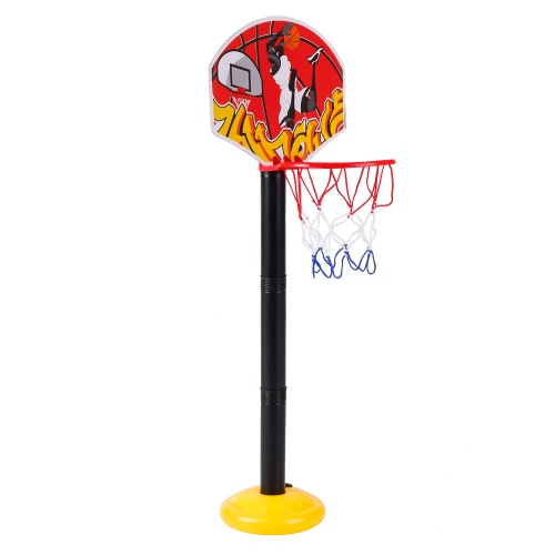 777-417 Basketball Hoop Stand Toy Set Adjustable 49.5 to 109cm in Height Children Outdoor Indoor Sports Train Equipment