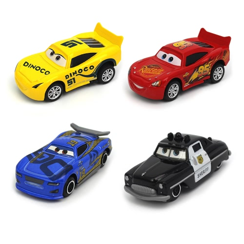 4 in 1 Disney Pixar Cars Lightning McQueen Die Cast Metal Cartoon Car Toy