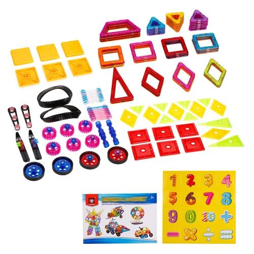 XINBIDA 7098A 98PCSマグネットビルディング磁気ブロック子供のための建設教育玩具