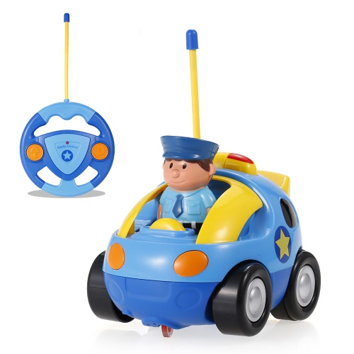 JakMean 2CH Radio Controllo Musica e Luci Cartoon Car Toy Car Toy per i bambini Toddlers