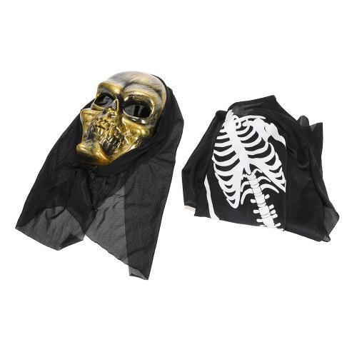 Strój Halloween Straszny Maska Szkieletowa Ghost Clothes Festival