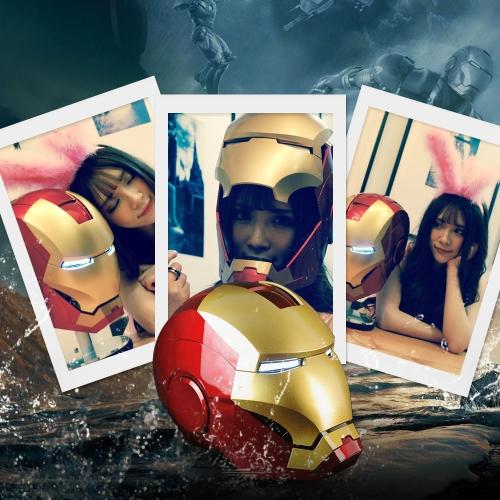 Super Hero Iron Man 1/1 Mark3 Full Scale Tragbare Helm Maske Replik für Festival Party Dekoration Kinder Spielzeug