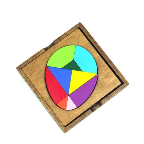 3Pcs legno Tangram Jigsaw Puzzle set Brain Teaser puzzle Legno Scrabble Educational Wood Blanks Giocattoli per bambini