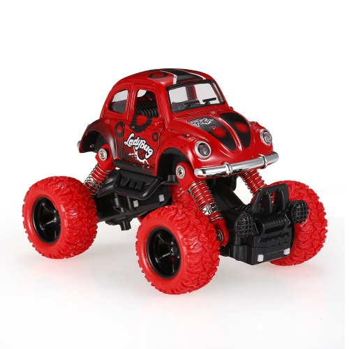 Classic Pull Back Car 1/36 Alloy 4WD Big Wheels Shock Resistant Off Road Climbing Car 2 Doors Open Pull Back Vehicle Toy Truck