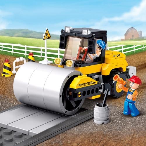 Sluban M38-B0539 171pcs un solo giocattolo di costruzione della costruzione del rullo di rotella dell'acciaio inossidabile per i capretti
