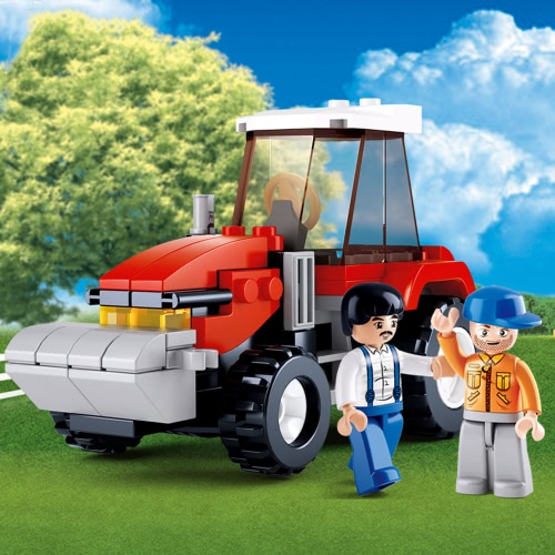 Sluban M38-B0556 103pcs Town Tractor Building Block Construction Toy for Kids