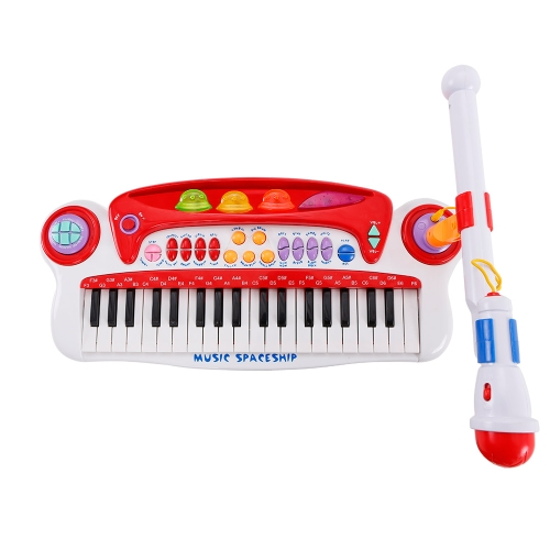 Baoli 37 Keys Electronic Keyboard Piano w/ Microphone Musical Instruments Gift for Kids