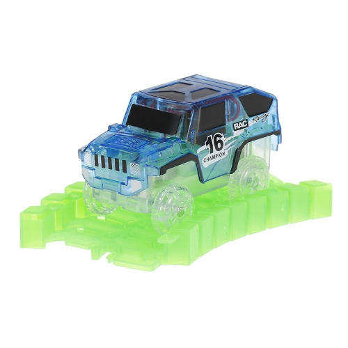 Glitter Track Race Car for 45mm Twister Tracks Neon Glow in Darkness for Kids