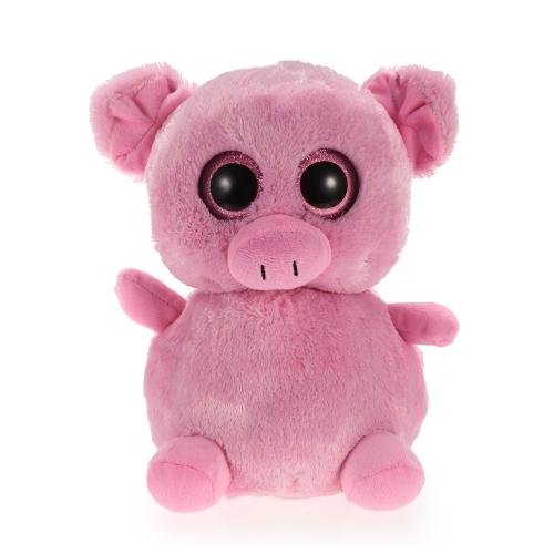 20cm大きな目のぬいぐるみ小さなピンクの豚大きな目の動物のぬいぐるみお子様のクリスマスと誕生日プレゼント