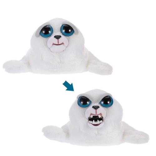Feisty Haustiere Tony Tubbalard Feisty Films Entzückende Plüsch Stofftier Harp Seal Pup macht Feisty mit einem Squeeze
