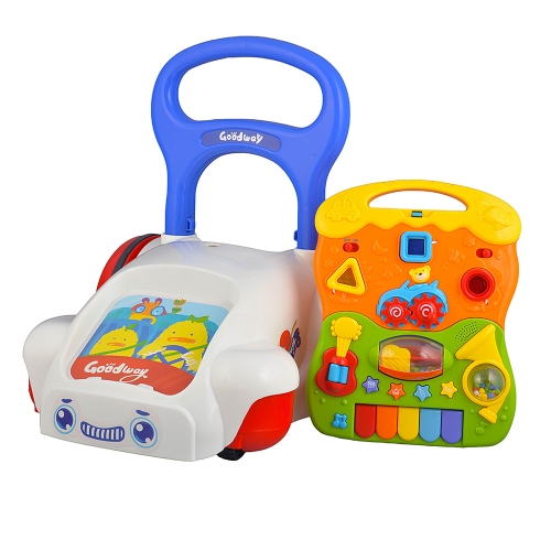 GOODWAY Baby Walker con luce e musica multifunzionale Trolley Walking Assistant Toy per Baby Early Education