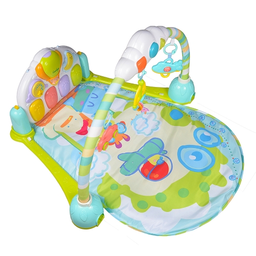 GOODWAY Baby Play Gym Mat Music Piano Gym Carpet Toy for Baby Early Education