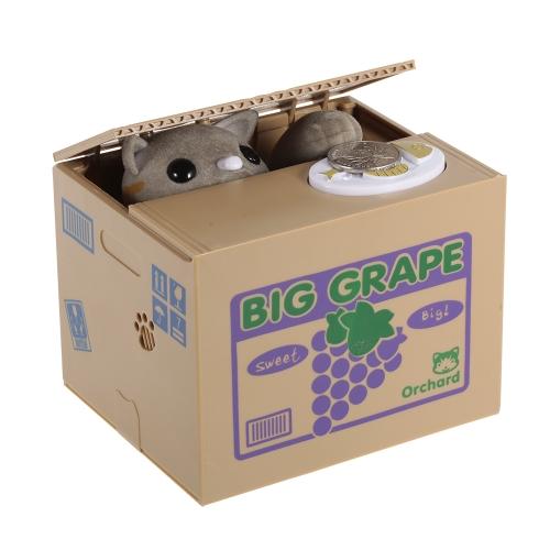 Creativo novità gatto ruba monete scatola salvadanaio moneta