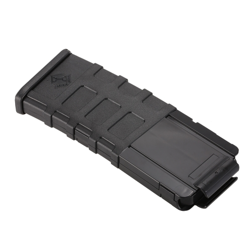 Worker 12-Dart Magpul Style Tactical Black Clip Magazine for Nerf Toy Gun
