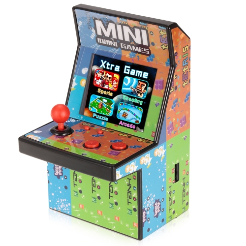 Mini Classic Arcade Game Cabinet Machine Retro Handheld Video Player com Built-in 108 Jogos Portable Gaming Electronic Novelty Toys