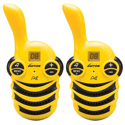 EU Edition 2pcs Luiton A8 Radio Interfono Elettronico Walkie-talkie elettronico Interphone giocattolo educativo regalo per bambini Interazione genitore-figlio