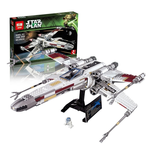 Oryginalne pudełko LEPIN 05039 1586szt. Star Wars Series Red Five Zestaw X-wing Starfighter Spaceship